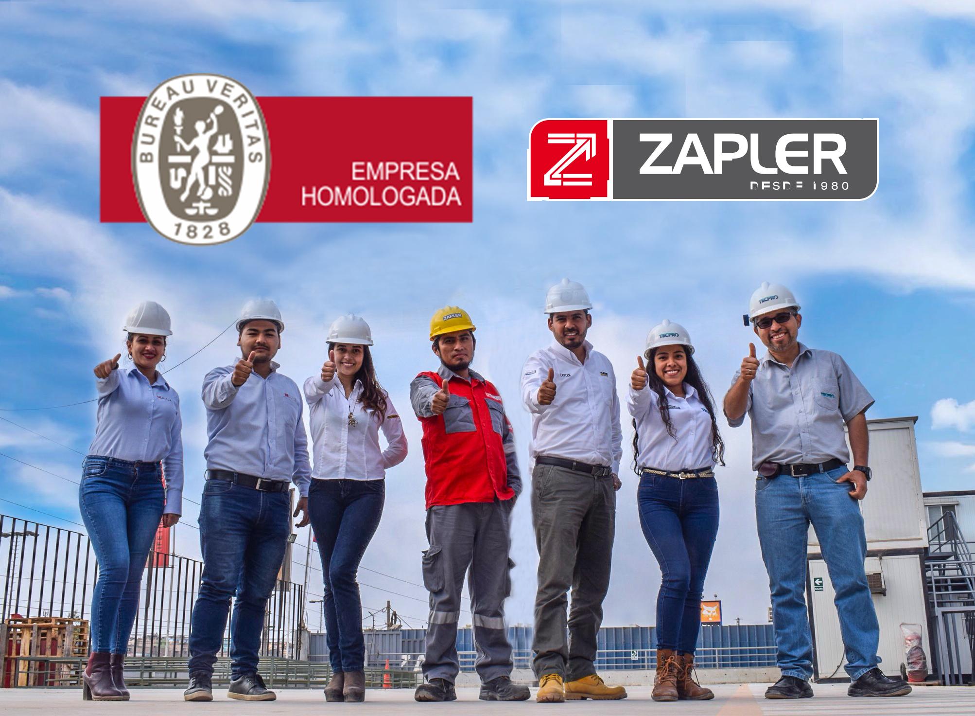 ZAPLER obtiene la homologación nivel A de Bureau Veritas