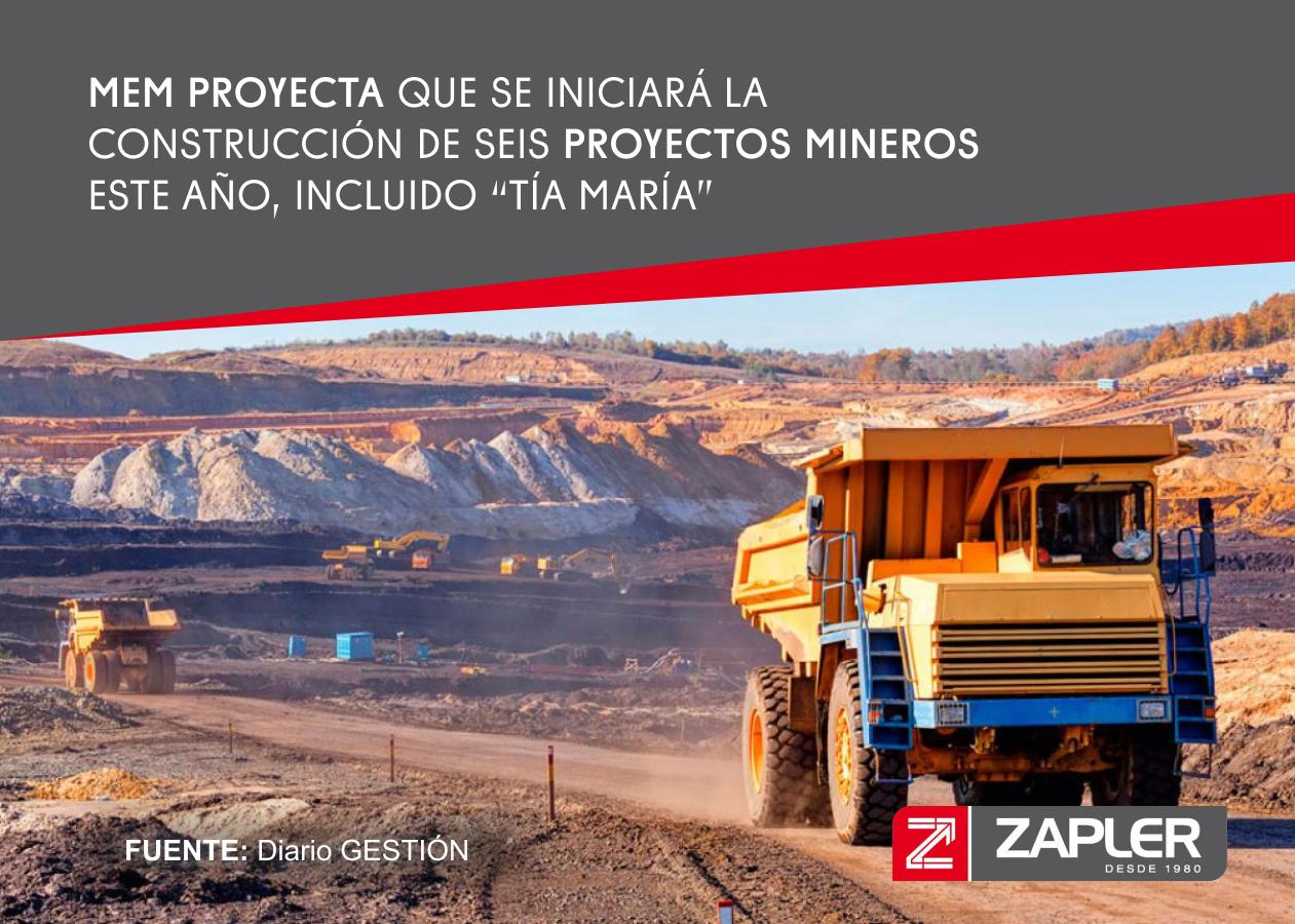 MEM proyecta que se iniciará la construcción de seis proyectos mineros este año, incluido 'Tía María